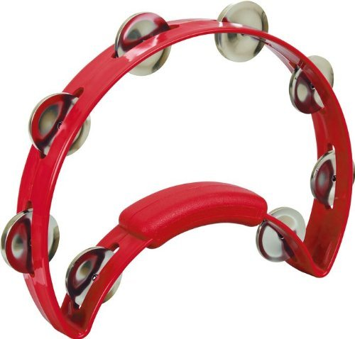 RHYTHM TECH 308625 TR-1230 SOLO Tambourine (Nickel Jingles) Percussion Zubehör rot