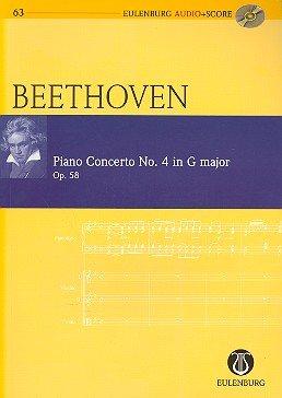 Ludwig van Beethoven: Klavierkonzert Nr. 4 G-Dur op.58 für Klavier und Orchester -- Studienpartitur (+CD) in der neuen Ausgabe von Eulenburg Audio + score - Noten/sheet music