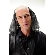 WIG ME UP ® - 4232-P103-68 Peluca caballero hombre Halloween Carnaval abuelo viejo científico loco profesor Einstein Frankenstein Igor gris marengo media calva