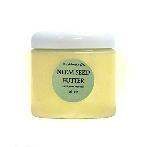Neem Seed Butter Pure Organic Cold Pressed Unrefined Skin Recovery Relief Healing 16 oz/1 lb