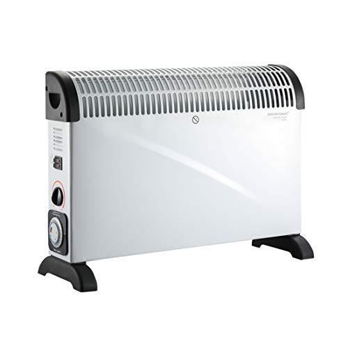 DONYER POWER 2000W Konvektor Heizung 24 Stunden Zeitschaltuhr Konvektor Heizer Radiator Heater Elektro Elektrische Heizung Elektroheizung mit Thermostat, weiss