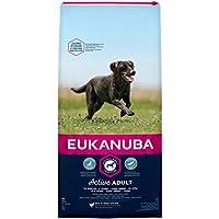 Eukanuba Adult Hundefutter für große Rassen mit neuer und verbesserter Rezeptur/Trockenfutter für Hunde im Alter von 18 Monaten - 6 Jahren in der Geschmacksrichtung Huhn/1 x 15kg Beutel