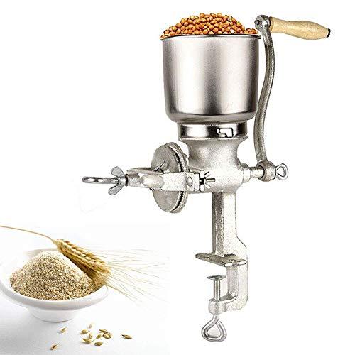 Cocoarm Getreidemühle Getreidequetsche Gusseisen Mahlwerk Mais Weizen Einstellbare Getreide Kaffee Nuss Mühle Brecher für Küche zu Hause -