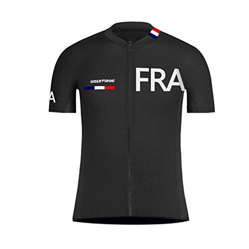 Uglyfrog Erwachsene Herren Radtrikot Trikot Bike-T Full Zip Sommer Top Cycling Jersey (Jersey Zip Adidas-full)