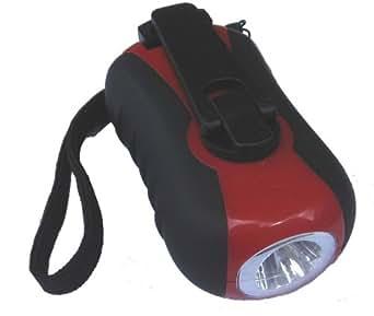 Idk ET-3073 Mini Lampe Torche Dynamo en 4 Couleurs Panachées 4,0 x 16,5 cm