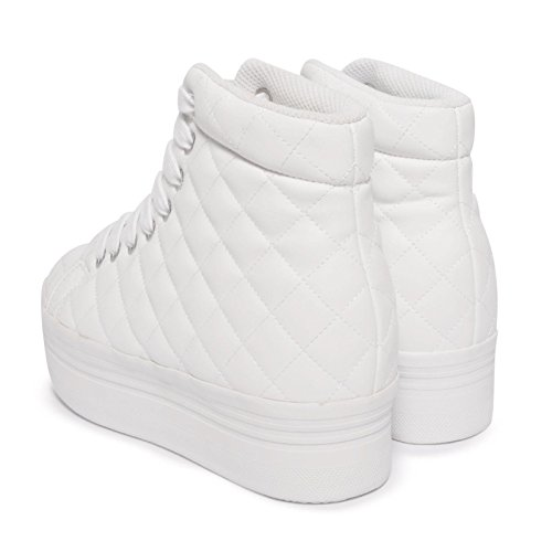 Jeffrey Campbell–.Homg Quilted Lea–White W Blanc