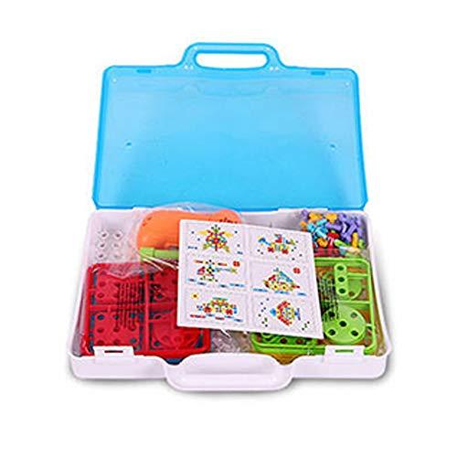 ZZG Bausteine Pädagogische Bau-Block-Satz-Spielzeug Für Kleinkinder Über 3 Jahren Alt 237 Versammlungsteil Ausgezeichnete Feiertags-Geburtstags-Geschenke