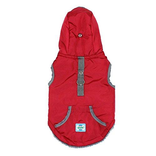 Jacke für Kleine Hunde Katzen Winter Warm Kostüm Tierbekleidung Haustier Hunde Mantel Coat(Rot,S)