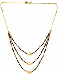 Archi Collection Designer Jewellery Gold Plated Ethnic Mangalsutra Pendant With Chain For Girls - B07214SP2B