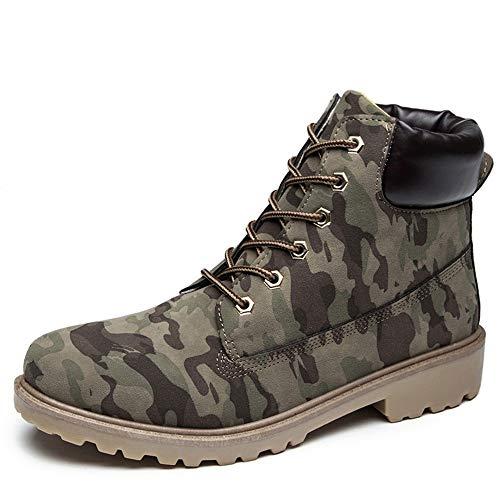 showsing Chaussures Homme en Daim Couleur Unie Bout Rond Chaussures compensées Garder au Chaud (41 EU, Camouflage) par  showsing