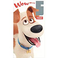 "Secret Life of Pets Age 5"" Happy Birthday Card-P"