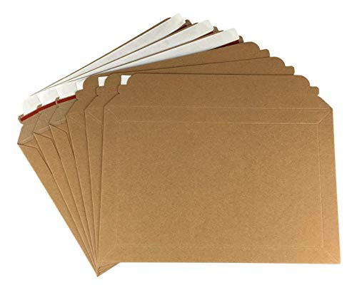 100 sobres rígidos de cartón expandibles para correo Royal Mail PIP, color Marrón manilla natural. 194mm x 292mm