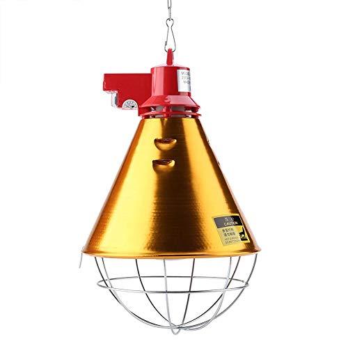 Lámpara de incubación de calor para aves de corral Lámpara infrarroja de bombilla infrarroja de 250 vatios y bombilla roja para perreras de aves de corral y otros animales, enchufe de la EU 230 V