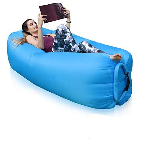 FOWLAN Aufblasbares Sofa   Luftcoach Hochwertige Wasserdichtes luftsofa   Blau