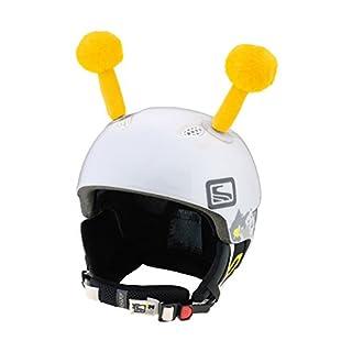 Crazy Ears Helm-Accessoires Biene Teddy Maus Katze. Ski-Ohren geeignet für Skihelm Motorradhelm Fahrradhelm und vieles mehr. Helm Dekoration für Kinder und Erwachsene, CrazyEars:Gelbe Fühler