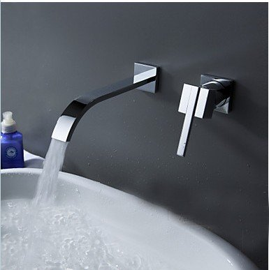 Deluxe Faucet Wallmounted Washbasin Water Tap 2 Piece Set Flush Faucet Cabinet Mixer Bathroom Hot And Cold Water Faucet Lt-322