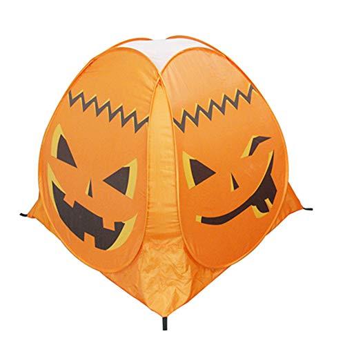 PRNGZGG Kinder Spielzelt Popup Spielhaus Halloween Requisiten Geist Festival Kürbis Zelt Spiel Haus Spukhaus Einfach Zu Tragen Und Zu Lagern