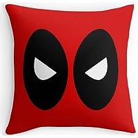 Ukjewelry, funda de cojín de Deadpool, roja, atractiva, cómoda, de dos lados, 45 x 45cm