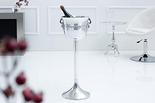 DuNord Design Sektkühler silber Weinkühler Flaschenkühler Aluminium m Standfuß Ständer DELUXE 75cm