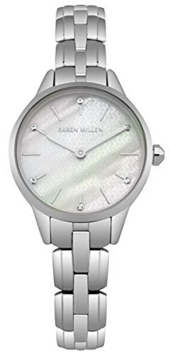 Karen Millen Womens Analogue Classic Quartz Watch with Stainless Steel Strap KM168SM