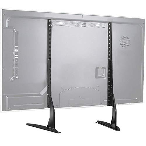 TV Standfuß Höhenverstellbarer TV Ständer für 37-65 Zoll Flach&Curved Fernsehr bis zu 50kg, Max. VESA 800x400mm Vesa-basis