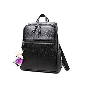 Leathario Mochila Tipo Caual Escolar Mujer Cuero Sintetico de Mano Backpack Laptop para Portátiles y Netbooks