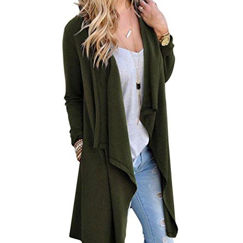 Damen Jacke Kapuze Hoodie Sweatshirt Amlaiworld Unregelmäßige Langarm Cardigan lose Oberbekleidung Jacke Mantel (Freie Größe, Armee grün)