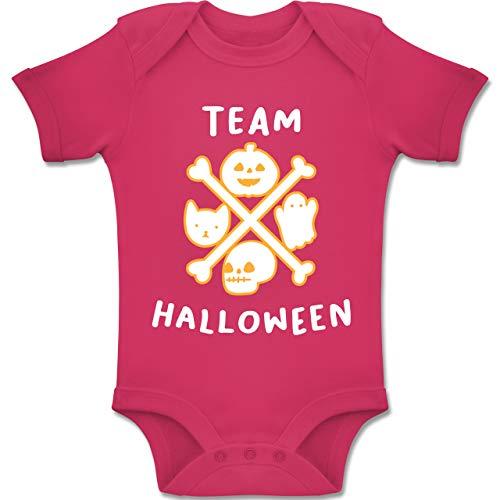 Baby - Team Halloween - 1-3 Monate - Fuchsia - BZ10 - Baby Body Kurzarm Jungen Mädchen ()