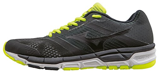 Mizuno Synchro Mx, Entraînement de course homme Grigio (DarkShadow/Black/SafetyYellow)