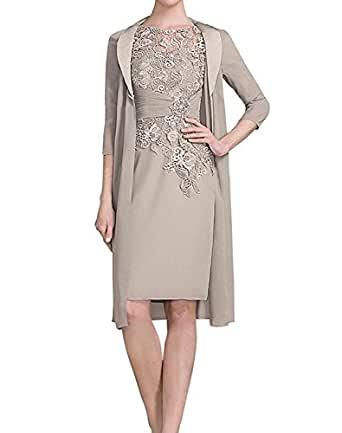 ShineGown Mother of The Bride Dresses Chiffon Jacket Lace
