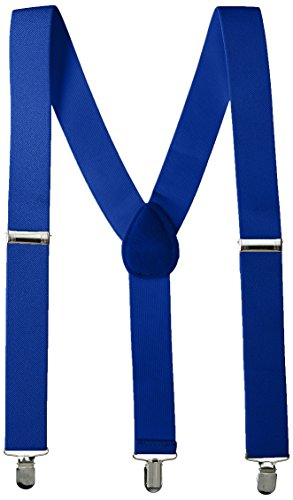 Party Perfect Team Spirit Adult Suspenders Accessory, Blue, Polyester ,