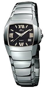 Lotus 15316-5 - Reloj de mujer de cuarzo con correa de acero inoxidable plateada de Lotus