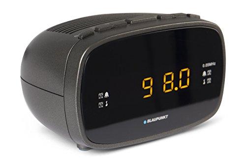 Blaupunkt CLR 80 Radiowecker mit UKW PLL | Uhrenradio mit zwei Weckzeiten | kleiner Reisewecker | Sleeptimer | Snooze-Funktion | Digitale Anzeige als Uhr
