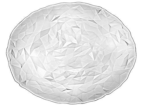 BORMIOLI ROCCO Plat Diamant Ovale en Verre Transparent, 36 x 28 x 1 cm