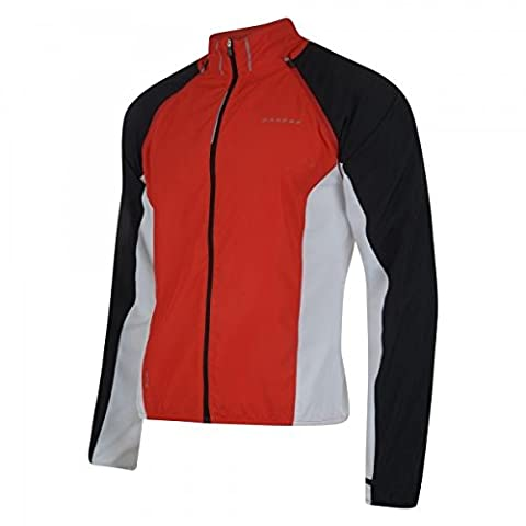 Dare 2B Enshroud - Veste coupe-vent à manches détachables - Homme (L) (Rouge)