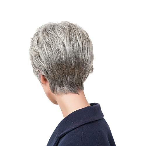 kurzes lockiges Haar mit Farbverlauf + Ponyperücke, hitzebeständige Kunstfaserperücke, Cosplay, Kostümperücke ()