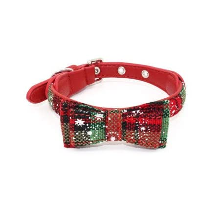 ysister Hundehalsband mit Fliege, langlebig, verstellbar und bequem, Baumwolle Halsband für Hunde und Katzen Haustier Hunde Katzen Krawatte Einstellbar Kragen Rote Fliege Formale Bowknot Halsketten