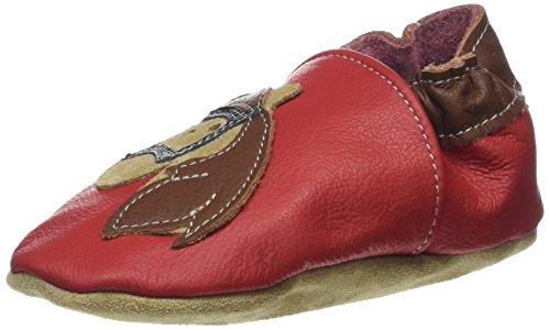 HOBEA Horse, Chaussures de Naissance Mixte Bébé Rouge