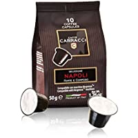 Caffè Carracci 100 Capsules Compatibles Nespresso - Napoli Intensité 10 500 g