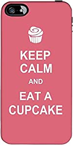 Snoogg Keep Calm and Eat a Cupcake Hard Back Case Cover Shield ForForApple Iphone 5C / Iphone 5c