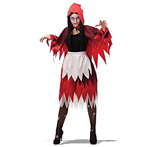 Carnival Toys - Juego Caperucita de terror con falda y capa, en bolsa, color rojo (737)