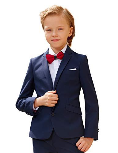 ELPA ELPA 5 Stück Jungen Smoking Anzug Kinder Kostüme dünne Klage Formelle Abnutzung, Blau, 3 (Kinder Smoking Kostüm)