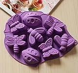 Waymeduo Silikon-Form zum Backen und Basteln, für handgefertigte Seife, Eis, Kuchen, Süßigkeiten, Schokolade style-1