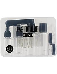 JET LAG Flacons de Voyage *Coloris Aléatoire* Trousse de toilette, 18 cm, Noir/Blanc/Vert/Rouge