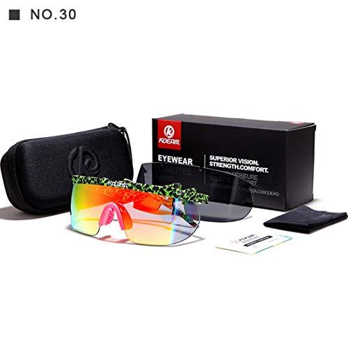 Easy Go Shopping Übergroßen männer Einteilige Stil Sport Sonnenbrille Mit 2 Linsen UV400 Schutz Fahren Radfahren Laufen Angeln Golf. Sonnenbrillen und Flacher Spiegel (Farbe : A010)