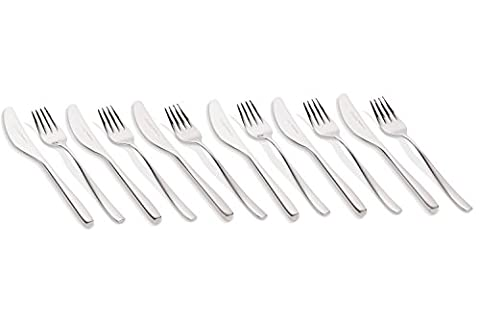 Villeroy & Boch / Fruit fork and knife set / Set of 12 / 18/10 Stainless Steel / Length of the Fork: 18 cm | Length of the Knife: 19 cm / Suitable for up to 6 persons