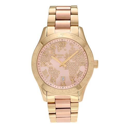 Michael Kors Damen Analog Quarz Uhr mit Edelstahl Armband MK6476