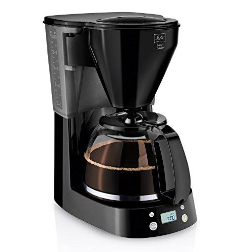 Melitta Easy Timer 1010-14, Filterkaffeemaschine mit Glaskanne, Timer-Funktion, Schwarz