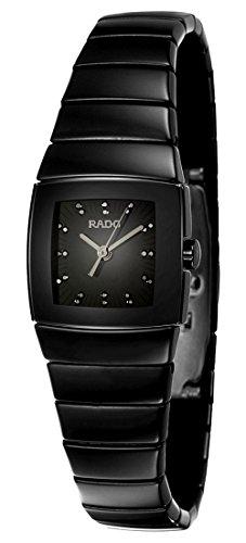 LIMITED EDITION Rado Sintra Jubile Black Ceramic Womens Quartz Watch Black Dial Black Diamonds R13768722