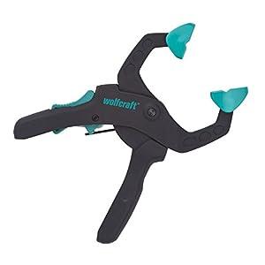 Wolfcraft 3615000 3615000-1″FZR 40″ Pinza de sujeción de carraca, Azul, 40 mm